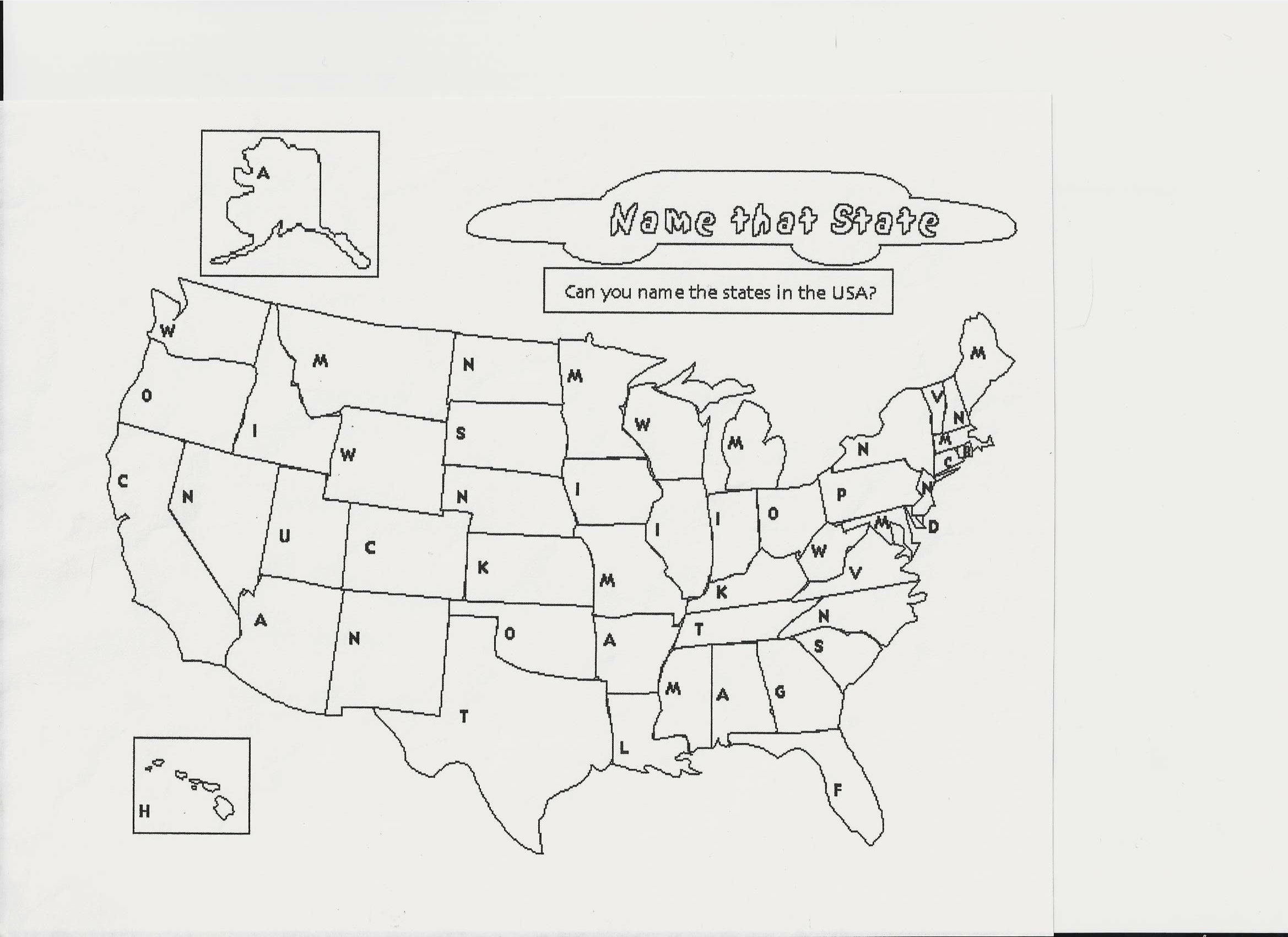 ErrorSpotting And US States Fostering Fluent English - Outline map of the us with state names